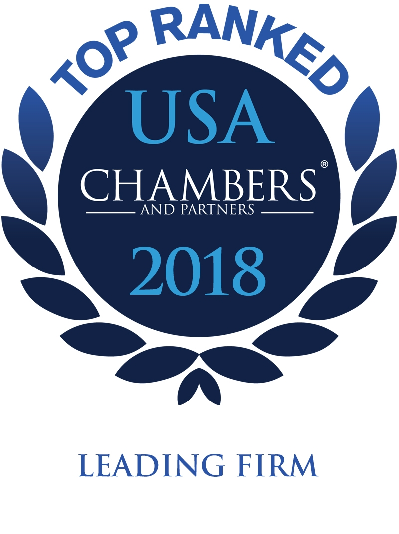 Chambers Top Ranked USA 2018 Leading Firm