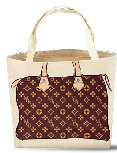 fa975301a91 on one side and look-alike drawings of luxury purses (including Louis  Vuitton purses) on the other side