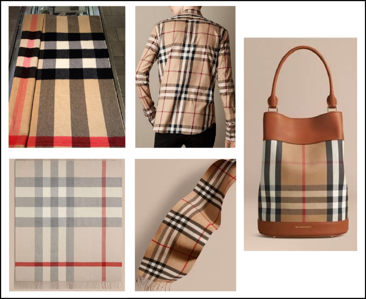 When Plaid Goes Bad Burberry Files Infringement Suit Against London For Men Non Box In Its Complaint Shows Side By Images Of Genuine Scarves On The Left And Target That It Alleges Infringes Trademark